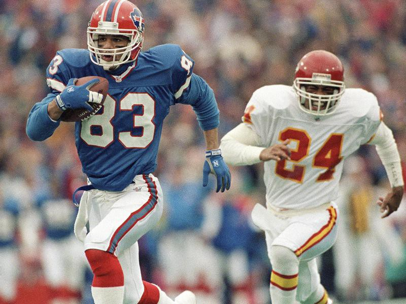 Andre Reed goes for gain