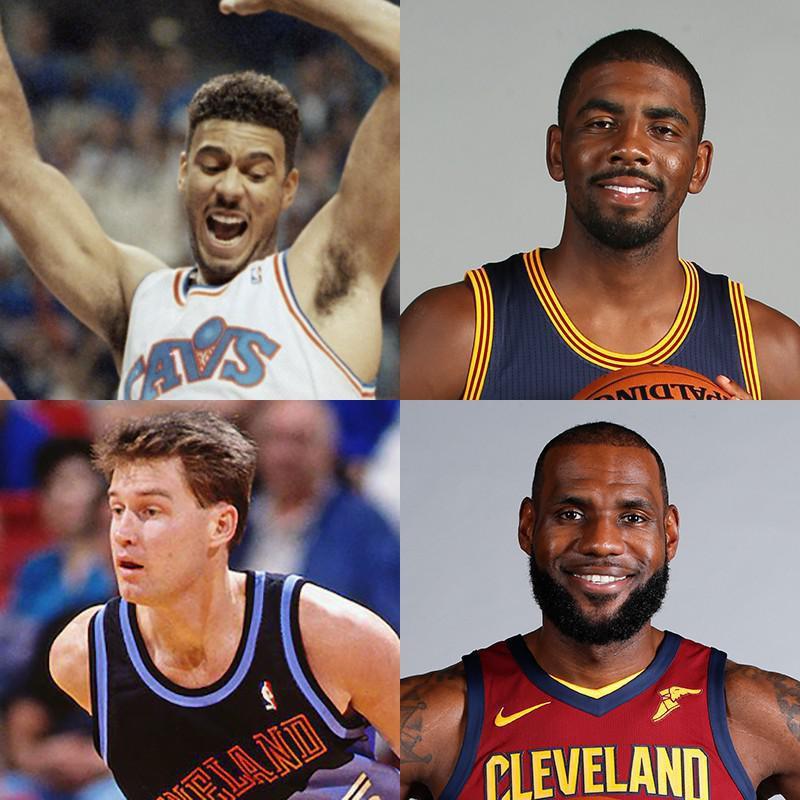 Brad Daugherty, Kyrie Irving, LeBron James, Mark Price