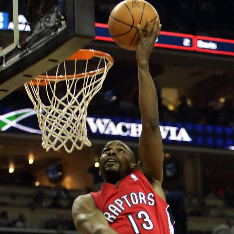 Mike James goes in for a dunk