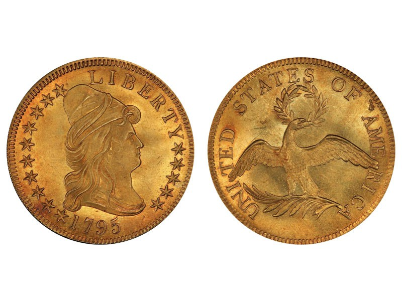 1795 Capped Bust Right Eagle 13 Leaves