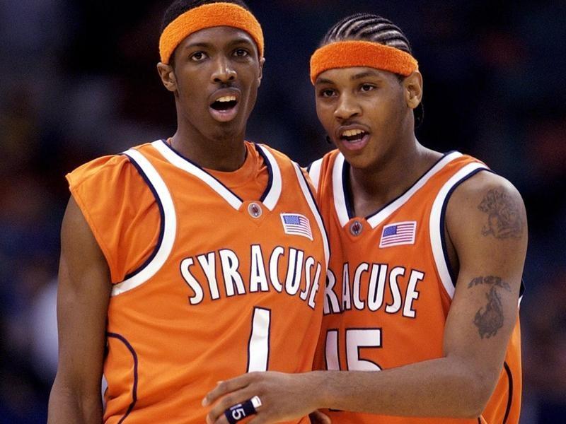 Syracuse stars Hakim Warrick and Carmelo Anthony