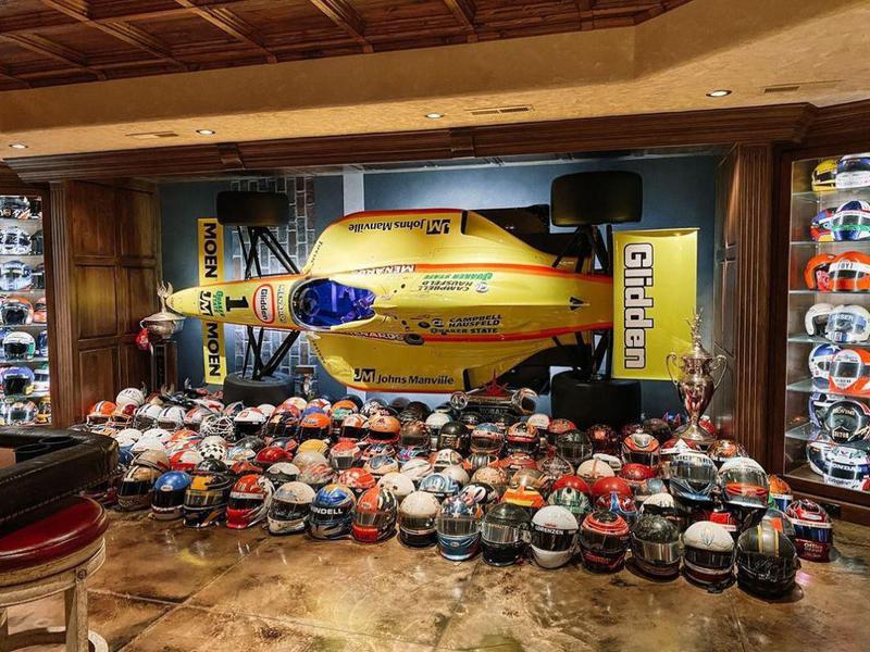 Tony Stewart's helmet collection