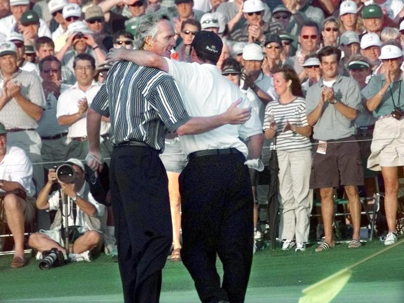 Jose Maria Olazabal and Greg Norman