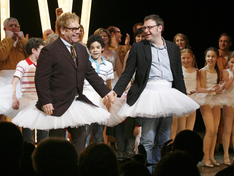 Elton John and lyricist Lee Hall billy elliot