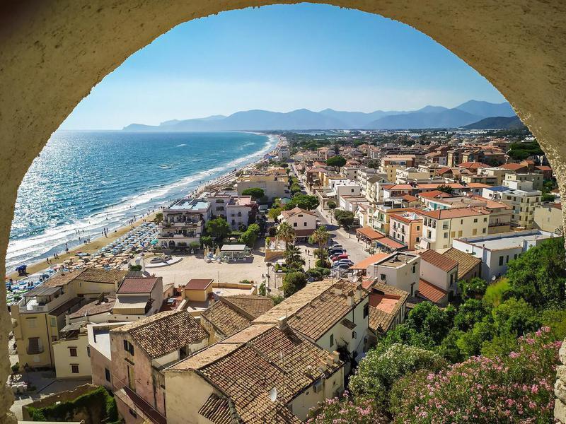 Panoramic view of Sperlonga, Italy