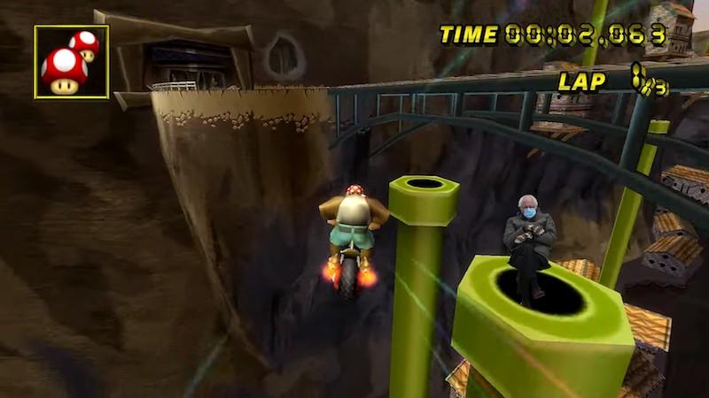 Bernie Sanders in a video game