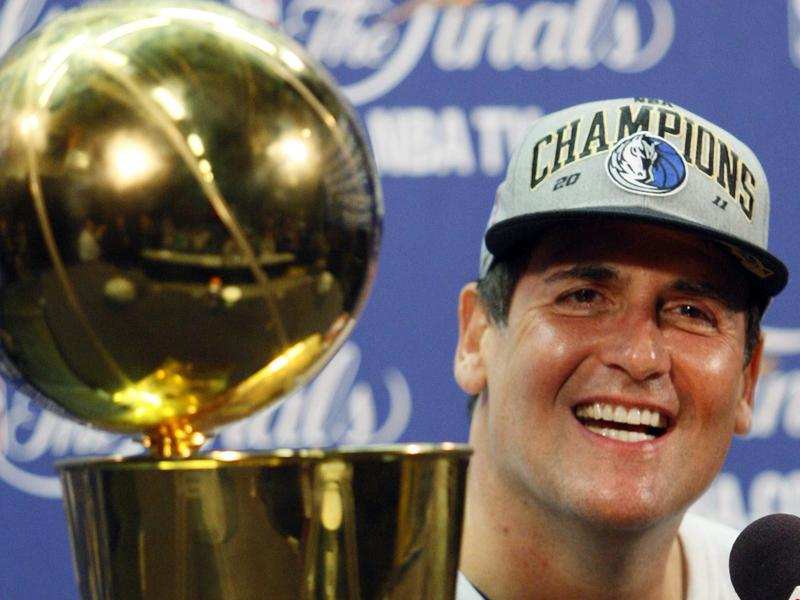 Dallas Mavericks owner Cuban smiles after his team won the NBA Championship in 2011.