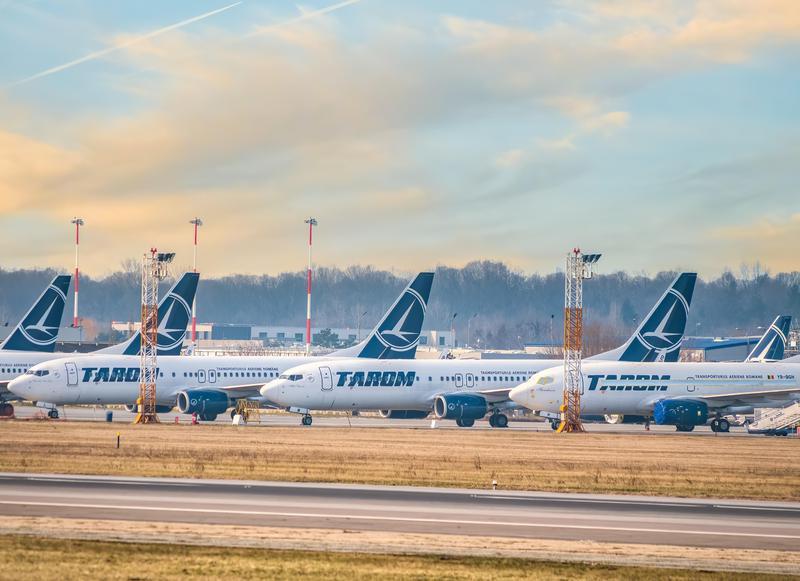Tarom airplanes on Henri Coanda International Airport