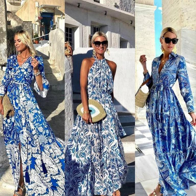 French blue dresses
