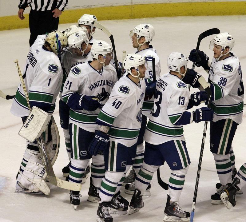 Vancouver Canucks celebrate