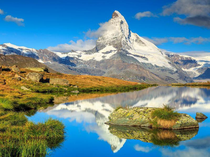 Matterhorn peak in Zermatt,Switzerland
