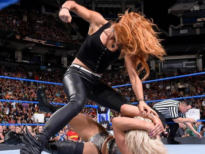 Becky Lynch in the ring