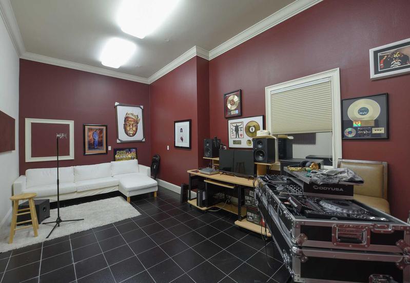 Shaq's podcast room