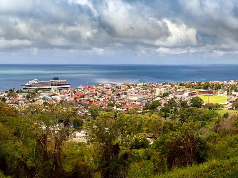 Roseau, Capitol City of the Caribbean Island of Dominica