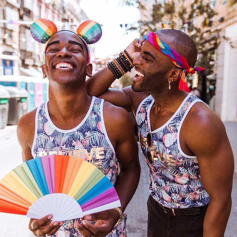 People celebrating pride Madrid
