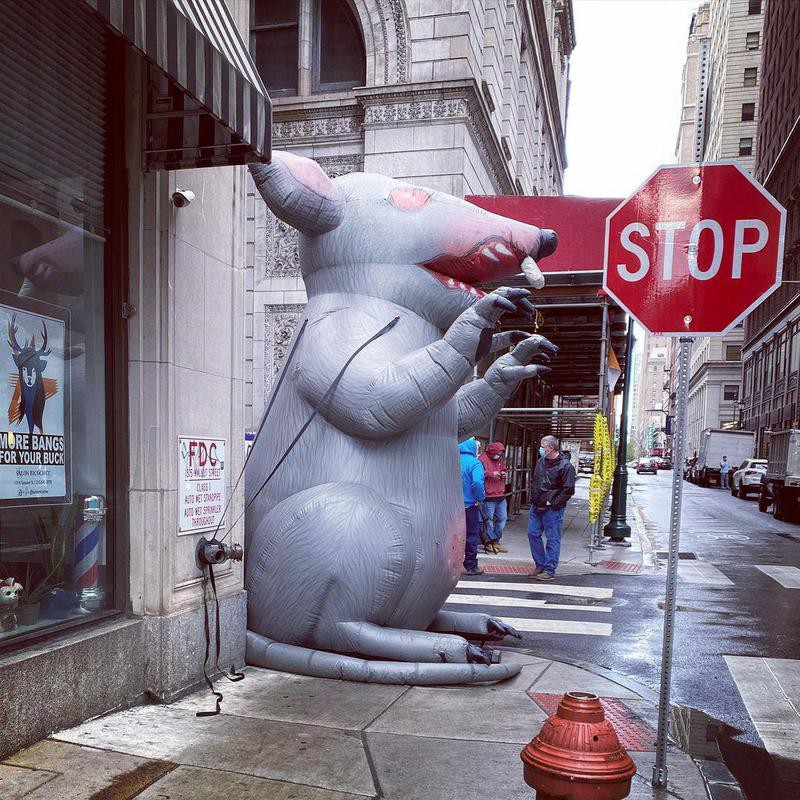 Blow up rat in Philly