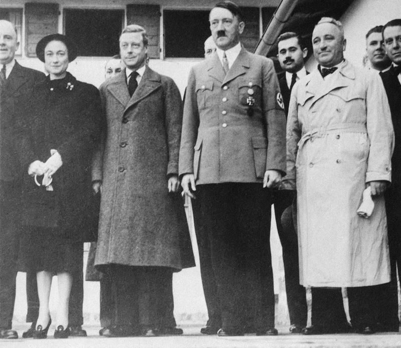 Edward, Duke of Windsor, Wallis Simpson and Adolf Hitler