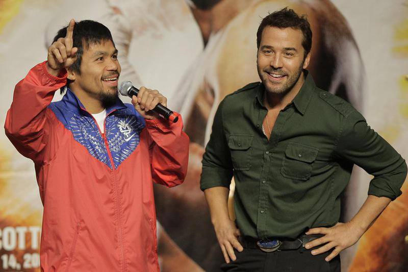 Jeremy Piven and Manny Pacquiao