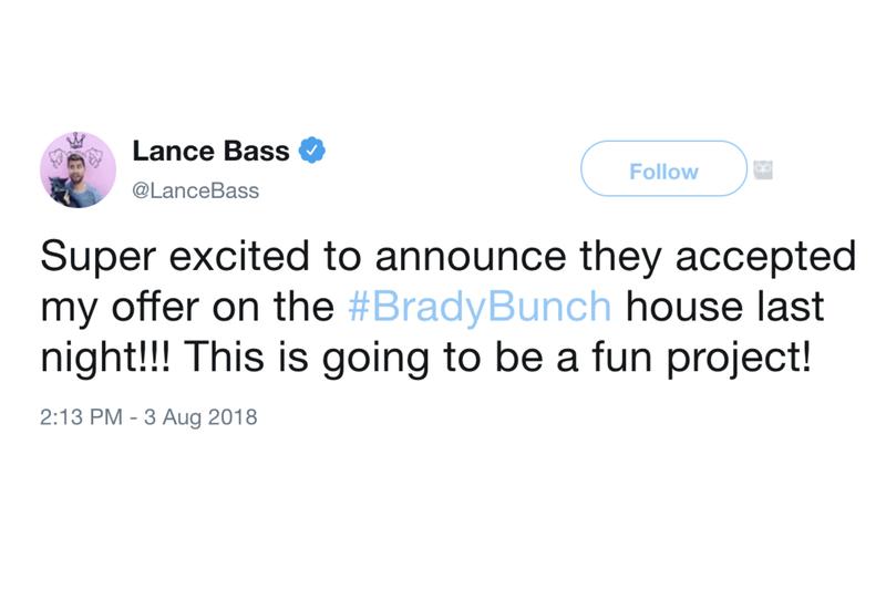 lance bass tweet