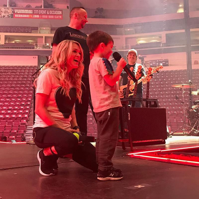 Carrie Underwood and Son Isaiah