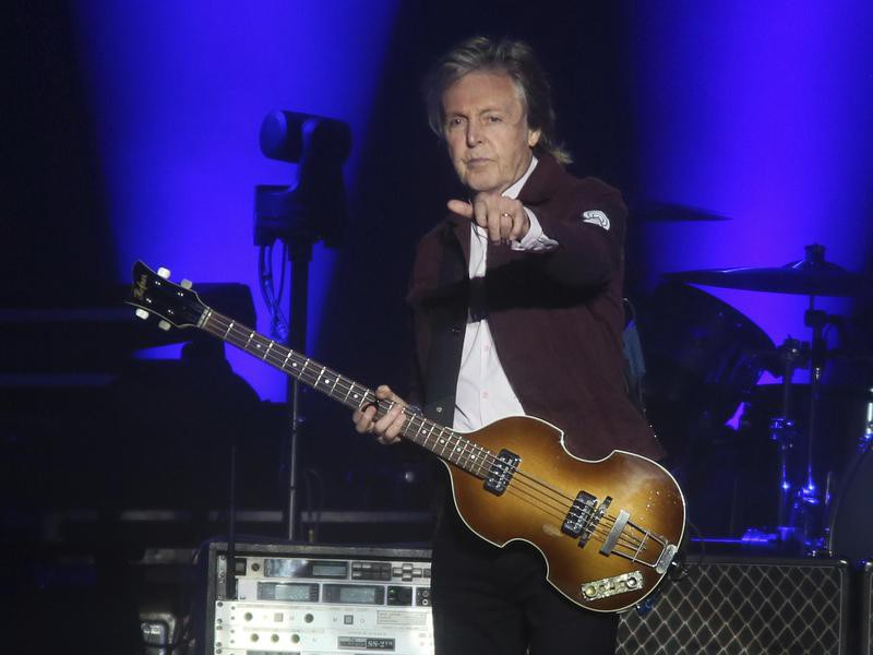 Paul McCartney performing at the Austin City Limits Music Festival in 2018
