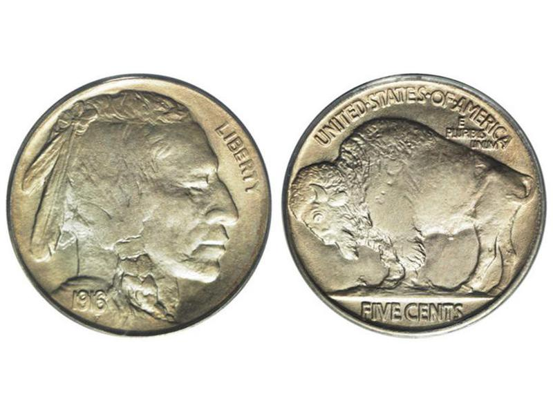 1916 Doubled Die Obverse Buffalo Nickel
