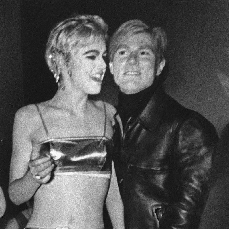 Edie Sedgwick with Andy Warhol