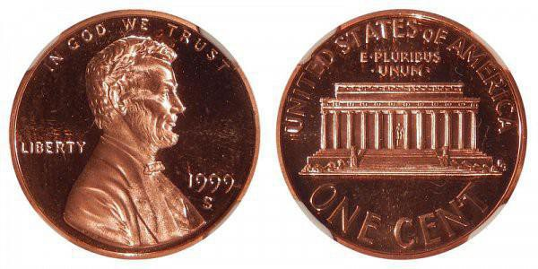1999 Lincoln Memorial Cent (Close AM)