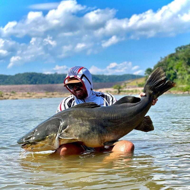 Catfish fishing in Brazil