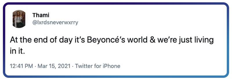 It's Beyoncé's world