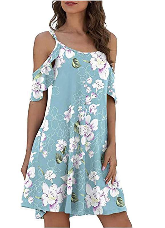Mortillo Summer Dresses for Women Halter Sundress