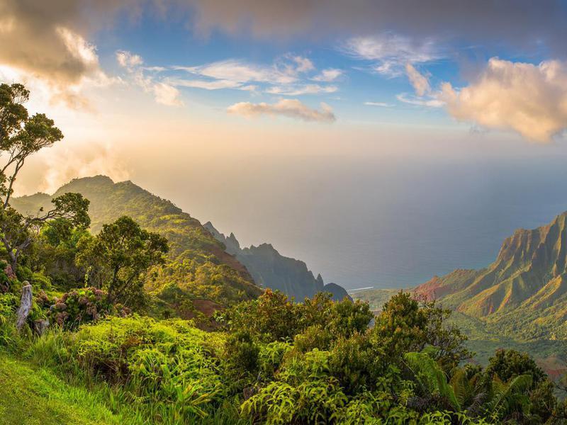 Kalalau Lookout view in Kauai