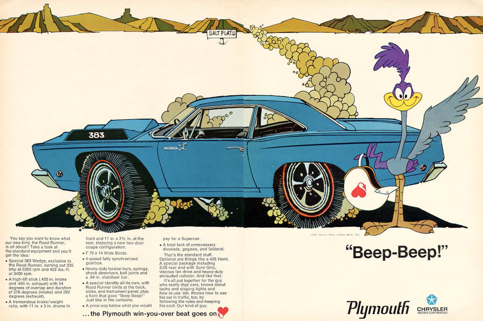 Road Runner ad from 1968