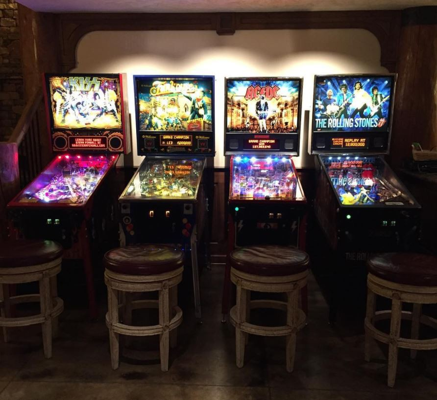 KISS, AC/DC and Roiling Stones pinball machines