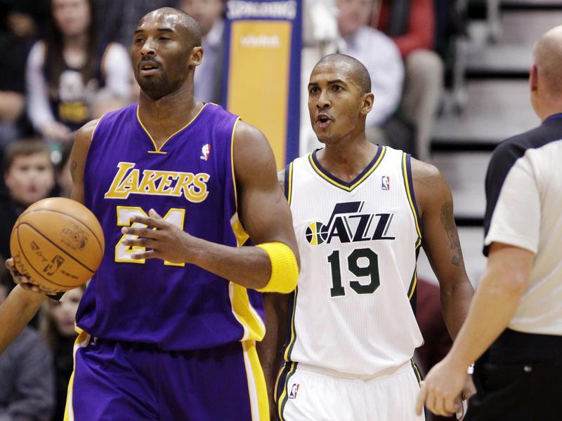 Raja Bell and Kobe Bryant