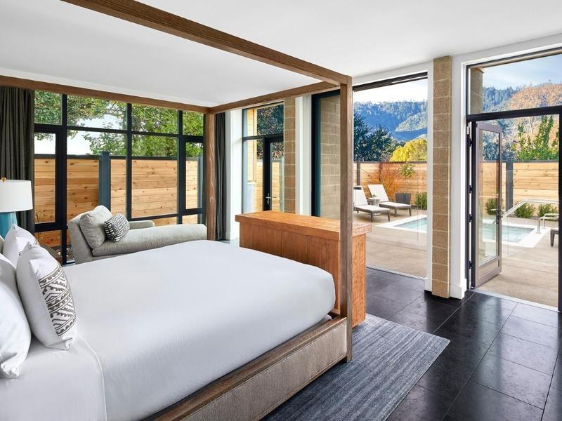 Luxury eco resort in Napa Valley