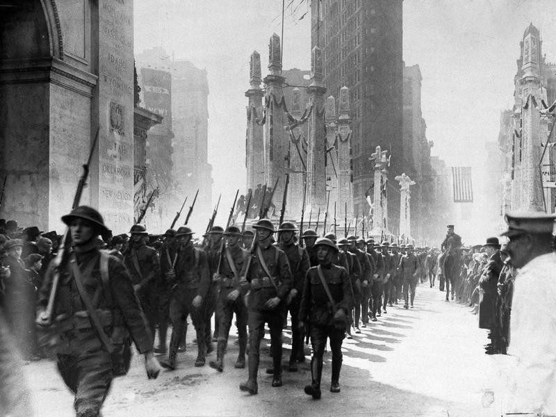 Soldiers Returning from France WWI