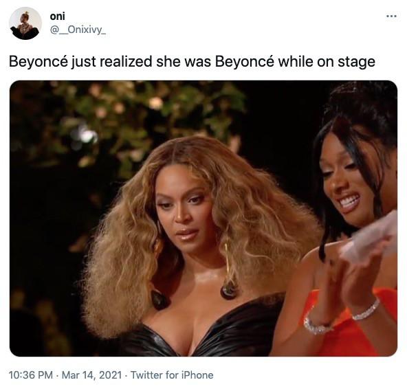 Twitter Beyoncé at the Grammys