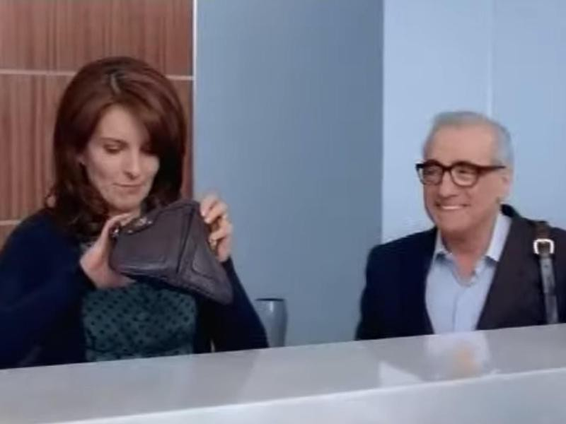Tina Fey and Martin Scorsese