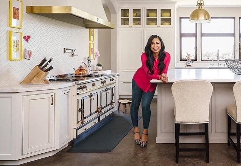 Ayesha Curry with La Cornue stove