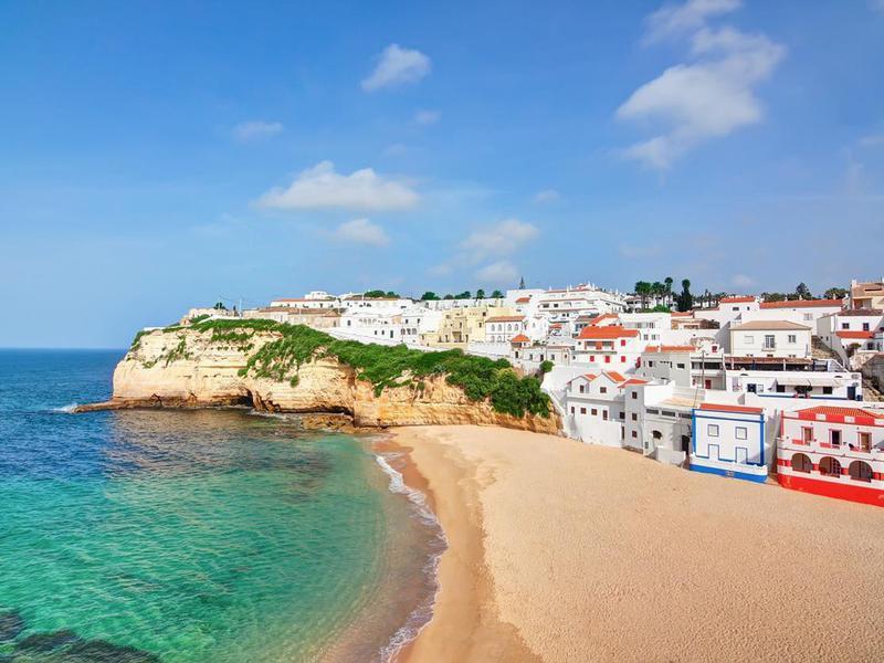 Carvoeiro beach town in Portugal