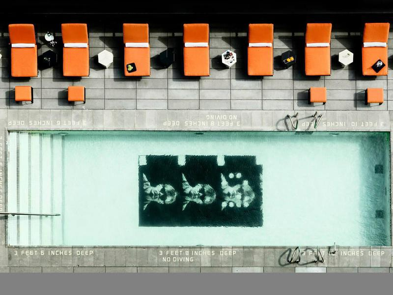 Andy Warhol pool at Sixty LES Hotel