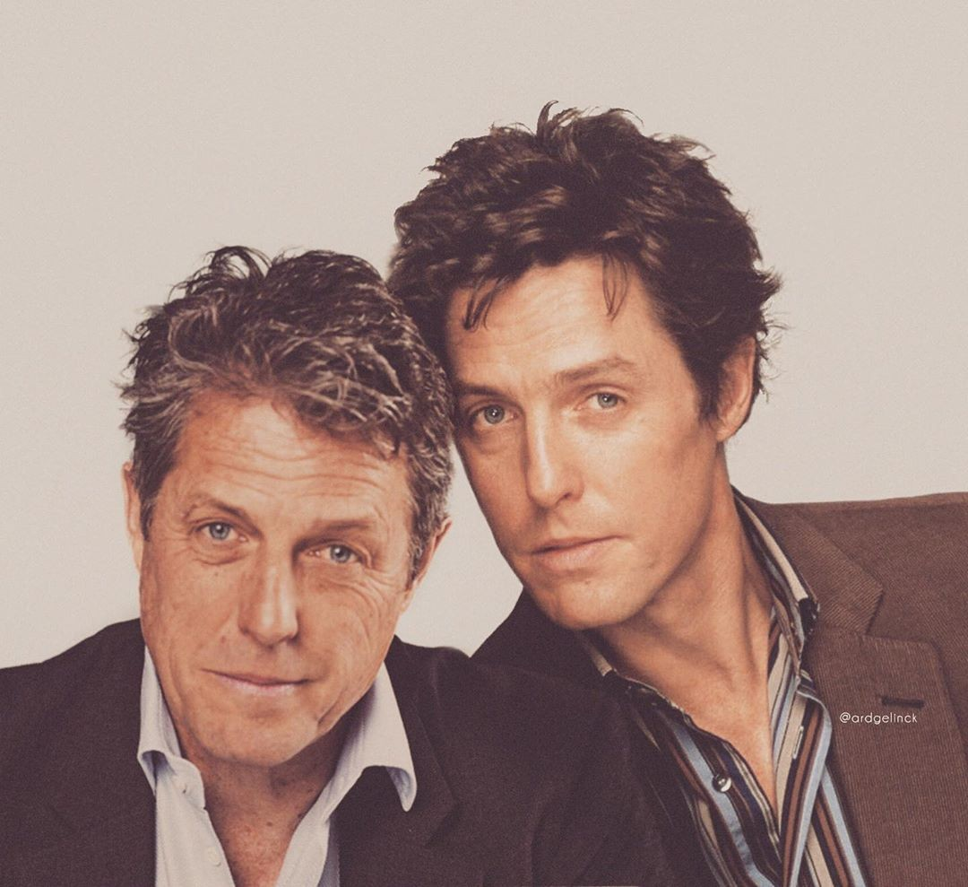 Hugh Grant then and now