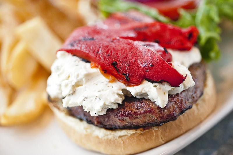 Goat Cheese Burger Topping