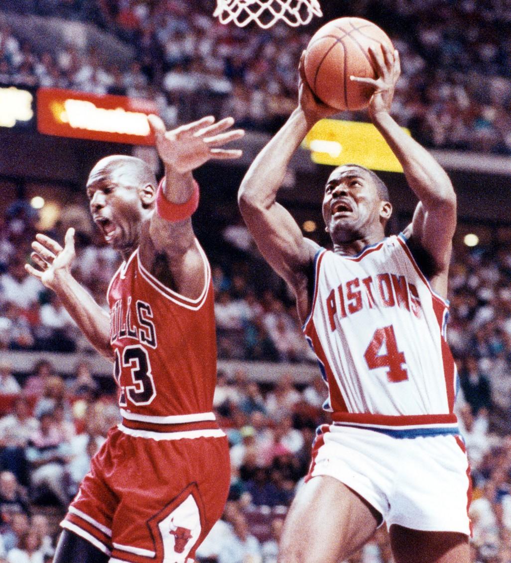 Joe Dumars and Michael Jordan