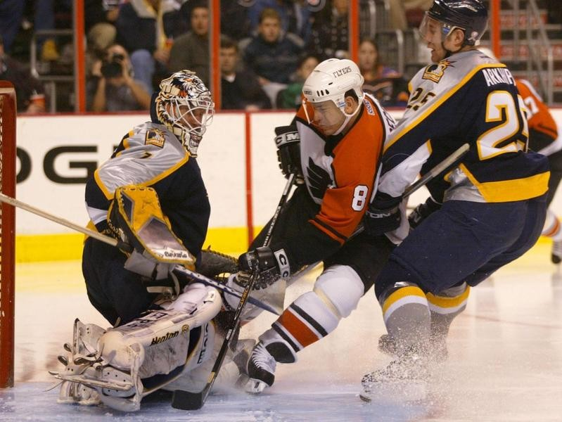 Mark Recchi with the Philadelphia Flyers