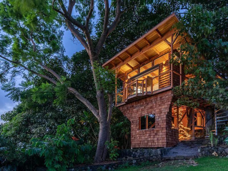 Kona Luxury Treehouse With Ocean Views