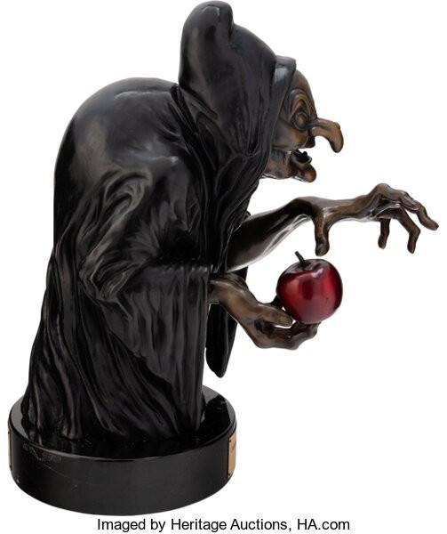 Snow White and the Seven Dwarfs Old Hag bronze statue
