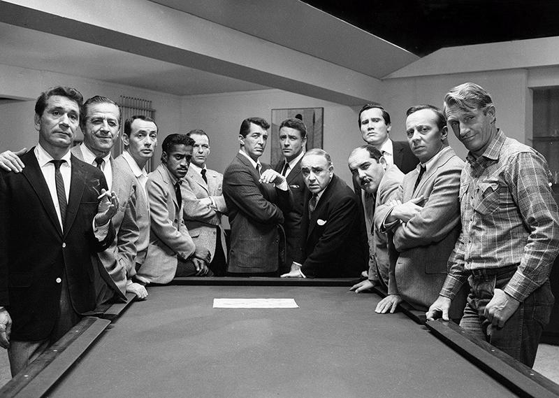 "The original ""Ocean's 11,"" with Sammy Davis Jr. and Frank Sinatra (fourth and fifth from left), offers a great heist and an education in old-school cool."