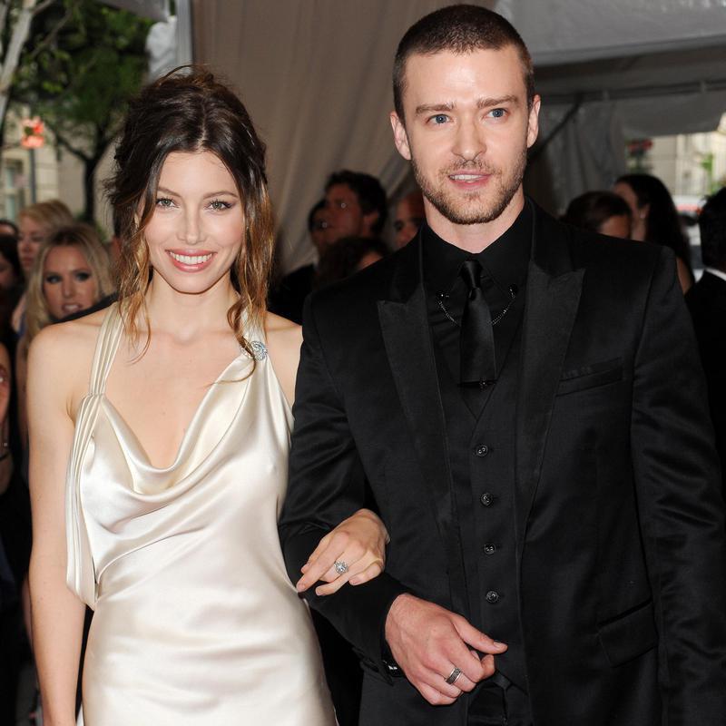 Justin Timberlake and Jessica Biel arriving at Met Gala